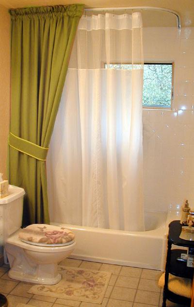 Shower Rods L Shaped Corner Ceiling Shower Rod