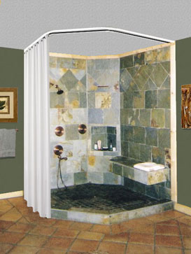 Shower Rods Neo Angle Ceiling Shower Curtain Rod