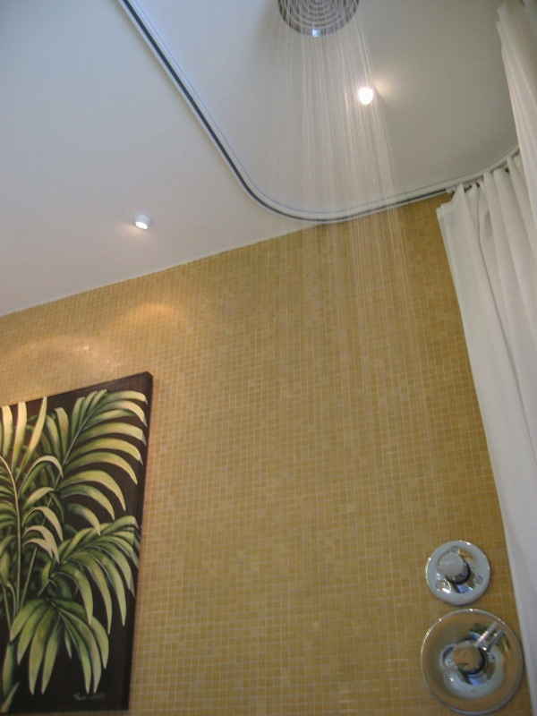 Shower Rods: Oval Ceiling Shower Curtain Rod